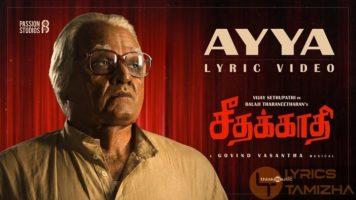 Ayya Song Lyrics Seethakathi